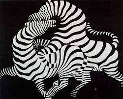 Zebras. Victor Vasarely, artist.