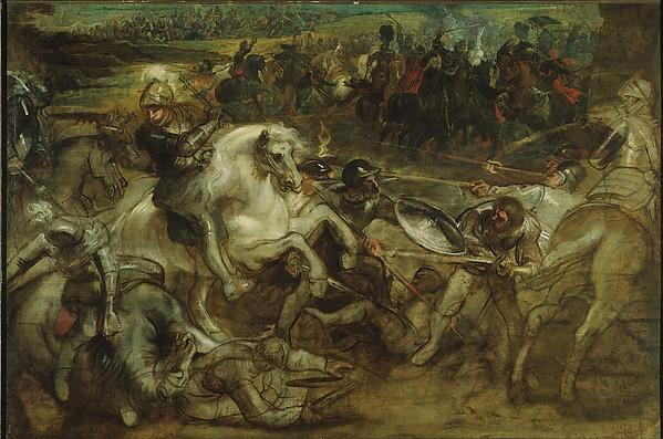 P.P.Rubens, Hendrik IV in de slag om Parijs, ca.1628-1630, olieverf op doek, Rubenshuis, inv.nr. S181